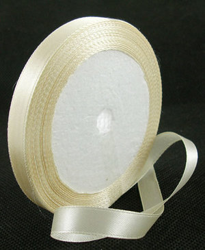 Satinband, Cream 10mm