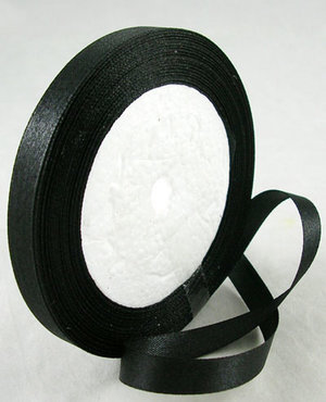 Satinband, Black 10mm