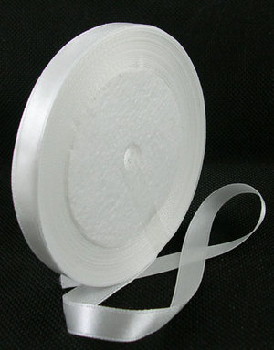 Satinband, White 10mm