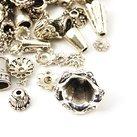 Metallmix pärlhattar, antiksilver