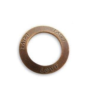 """Vintaj - Ring """"Love"""" i mässing 23mm"""