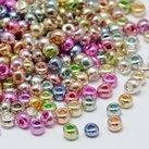 8/0 Seed Beads, 2-3mm, Iris Mix