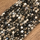 Agat, svartbeige, 4mm