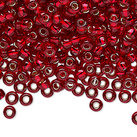 8/0 Seed Beads, 2-3mm, Red S/L