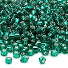 8/0 Seed Beads, 2-3mm, LightSeaGreen S/L