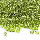 8/0 Seed Beads, 2-3mm, LightGreen S/L