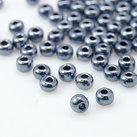 8/0 Seed Beads, 2-3mm, Opaque Luster PrussianBlue