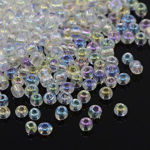 8/0 Seed Beads, 2-3mm, Crystal Rainbow