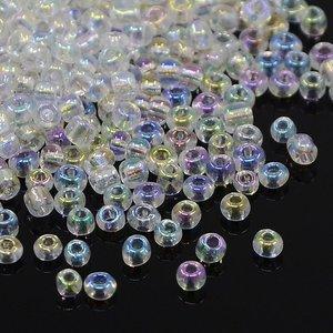 8/0 Seed Beads, 2-3mm, Crystal Rainbow