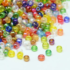 8/0 Seed Beads, 2-3mm, Transparent Mix