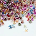 8/0 Seed Beads, 2-3mm, Crystal Colorlined Mix