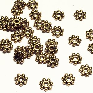 Metallpärlor, daisy guld 4,5mm Ø 1mm