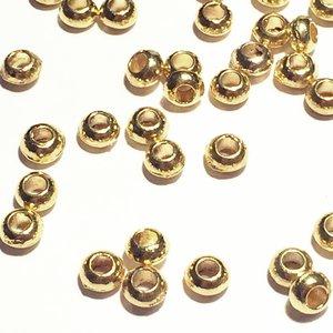 Metallpärlor 5,5x3,5mm Ø 2,6mm