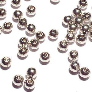 Metallpärlor 4mm Ø 1,5mm