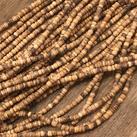 Kokosnöt, rondeller 4mm