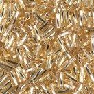 Miyuki Twisted Bugle 2x6mm- S/L Gold