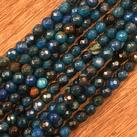 Agat,  mörkblå, 4mm