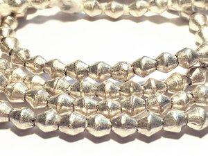 Silver Prayer Beads 6x5mm