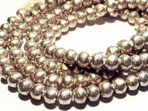 Silver Prayer Beads 5,5x7,5mm