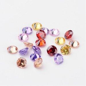 Kubic Zirkon, diamant, 2,5mm