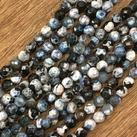 Agat,  gråblå, 4mm