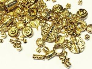 Metallmix pärlor, Guld