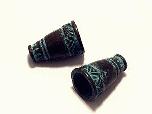 Grekiskt vintagehänge, patina 18x12mm