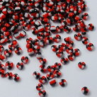 6/0 Seed Beads, 3-4mm, Opaque Seep RedWhite