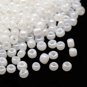 6/0 Seed Beads, 3-4mm, Ceylon White