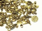 Metallmix pärlor, Antikguld
