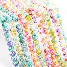 Glaskristall, mix, 6x5mm