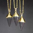 Halsband pendel bergkristall