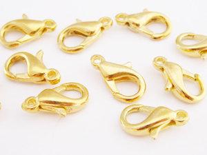 Klolås, 12mm, Guld