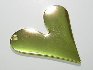 Stansbara hjärtan guld, 35x39mm