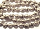 Silver Prayer Beads 10x7-8mm