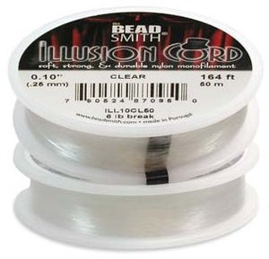 Illusion cord 0,25mm, clear