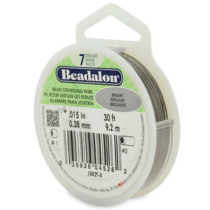 Beadalon, plastad wire 0,38mm