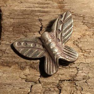Fjäril i finsilver, 15x11mm