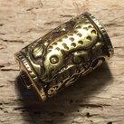 Metallpärla amulett, 31x18mm