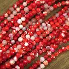 Agat,  röd, 6mm