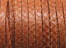 Grekiskt Platt Läderband 5x1,5mm, Kamel Ormskinnsmönster