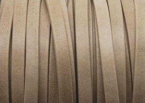 Grekiskt Platt Läderband 5x1,5mm, Beige