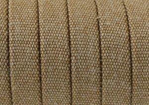 Platt Jeansklätt Band 10x2mm, Ljusbrun