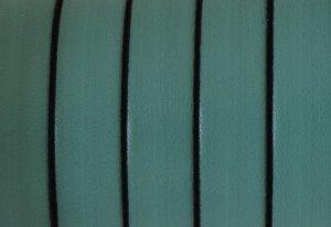 Grekiskt Läderband 10x2mm, Ljus turkos/grön