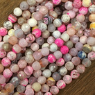 Agat, rosa mix, 8mm