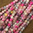 Agat, rosa mix, 6mm