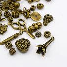 Metallmix pärlor & hängen, Brons