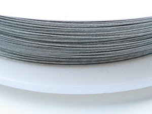 Plastad wire 0,38mm, Silver