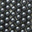 Shell Pearls, svart, 6mm