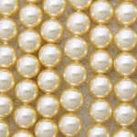 Shell Pearls, gul, 6mm
